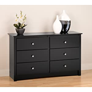 Black Sonoma Children's 6 Drawer Dresser