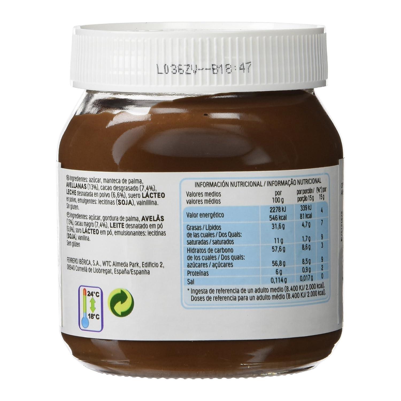 Nutella Crema de Avellanas y Cacao - 350 gr: Amazon.es ...