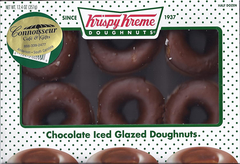 Krispy Kreme Chocolate Iced Glazed Doughnuts - (2) Half Dozen ...