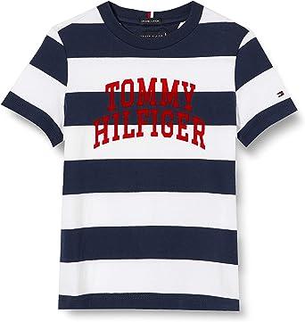 Tommy Hilfiger Rugby Stripe Graphic tee S/S Camisa para Niños: Amazon.es: Ropa y accesorios