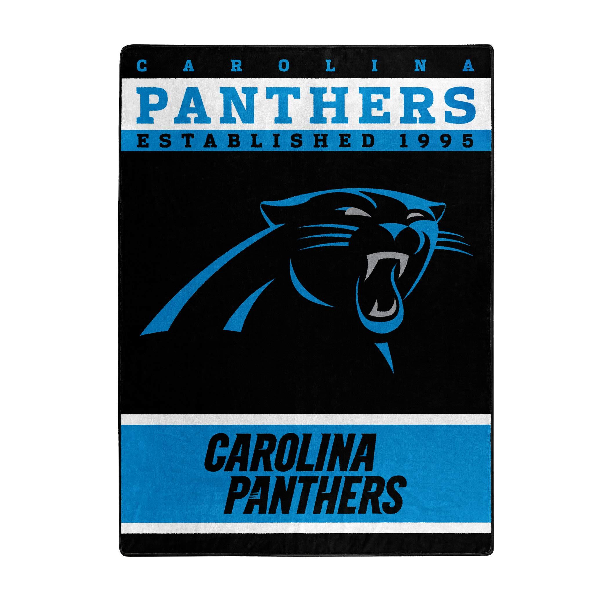 NFL Carolina Panthers 12th Man Plush Raschel Throw, 60'' x 80''