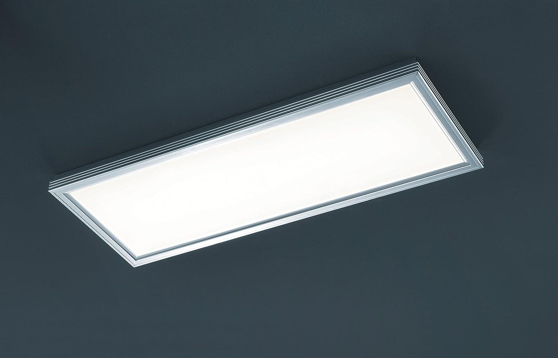 Trio Lucas Plafón LED, 30 W, Aluminio pulido, 31x81,5cm ...
