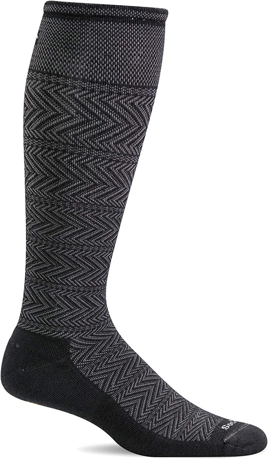 Sockwell Mens Chevron Twill Firm Graduated Compression Sock