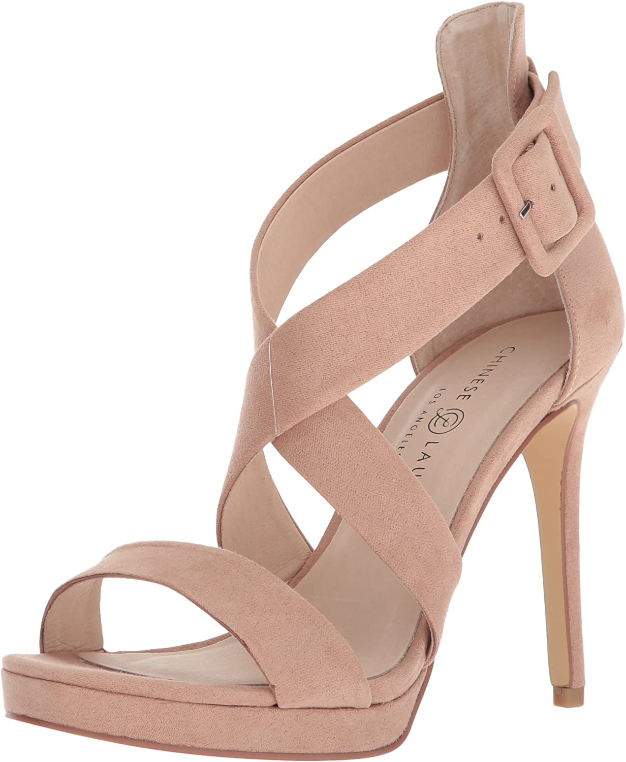 Chinese Laundry Womens Foxie Faux Suede Heels Dress Sandals