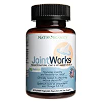 Natural Joint Supplement for Joint Support and Joint Health – Advanced Vegan Joint Supplement and Anti Inflammatory Supplement – 60 Vegan Caps - 2 Months Supply – JointWorks
