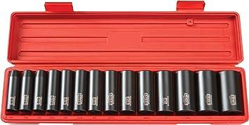 US Pro 14 Pièces 3//8 Dr Deep Hexagonal Simple Douilles Set 8-21mm 6 Points