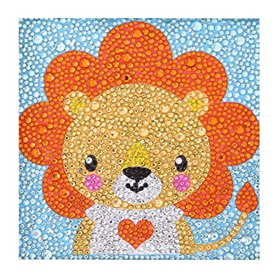ZSNUOK Diamond Painting Kits for Kids, Diamond Painting for Children Full Crystal Drills Mosaic Making Decorative Kits DIY Paint with Diamonds Arts Crafts - Lovely Lion: Toys & Games
