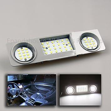 Para Volkswagen Golf MK6 Passat Jetta Domo Mapa Interior Luz Bombillas LED trasera blanco + Panel: Amazon.es: Coche y moto