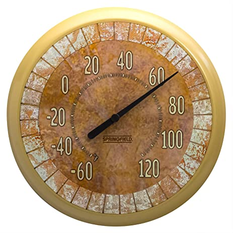 Marvelous Springfield Tile Low Profile Patio Thermometer (13.25 Inch)