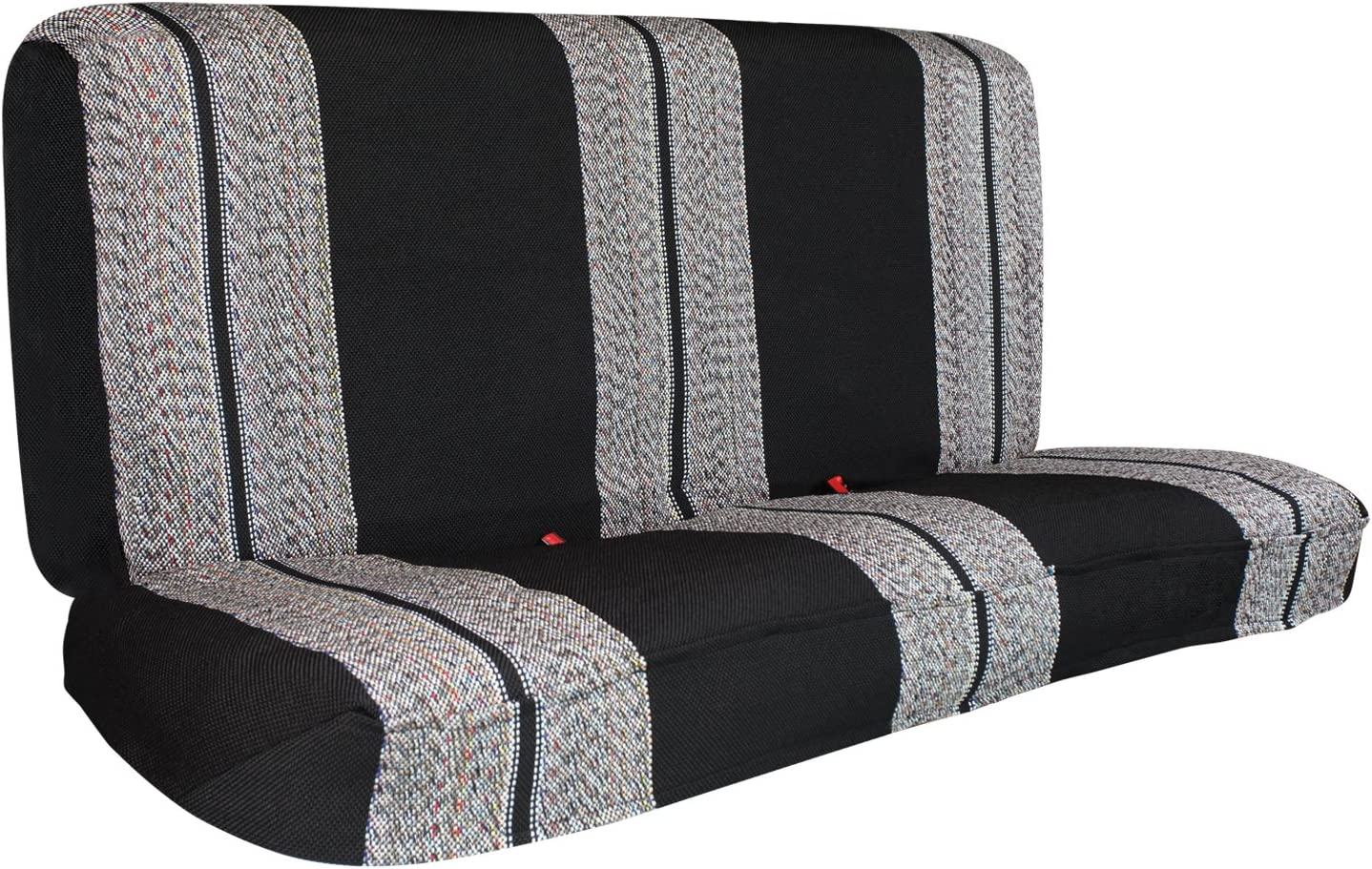 Leader Accessories Saddle Blanket Black Full Size Pickup Trucks Bench Seat Cover Universal Work with Chevrolet Dodge Ford Bench Seats