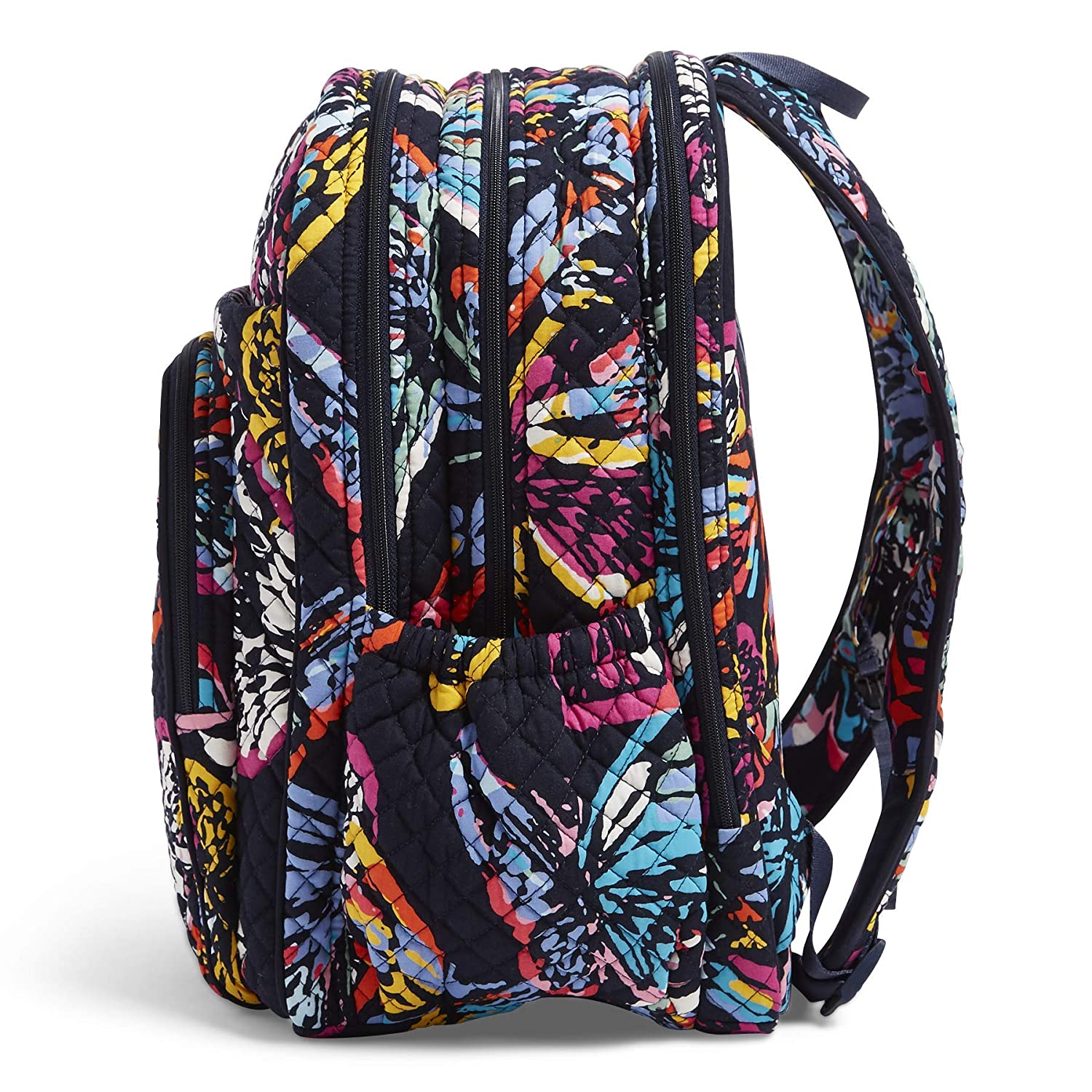 648592b18 Amazon.com: Vera Bradley Iconic XL Campus Backpack, Signature Cotton,  butterfly flutter: Clothing