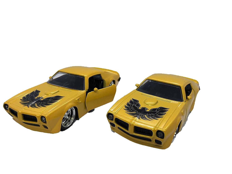【超新作】 マスターおもちゃ1972 B07FXNLKDB 32スケールwith Jada Pontiac Firebird Hardtop 1// 32スケールwith Pullback Actionイエローのセット2 B07FXNLKDB, 前沢町:12a7f6b5 --- a0267596.xsph.ru