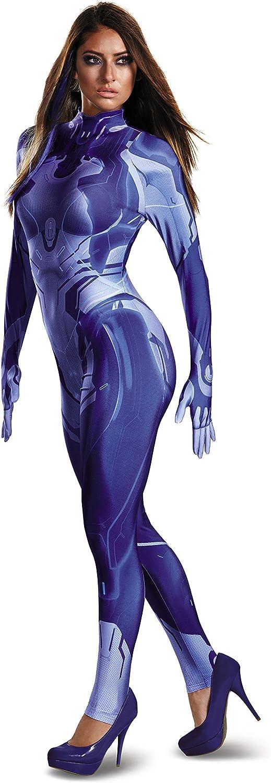 Disguise Women S Halo Cortana Adult Bodysuit Costume Blue Medium Amazon Ca Clothing Accessories