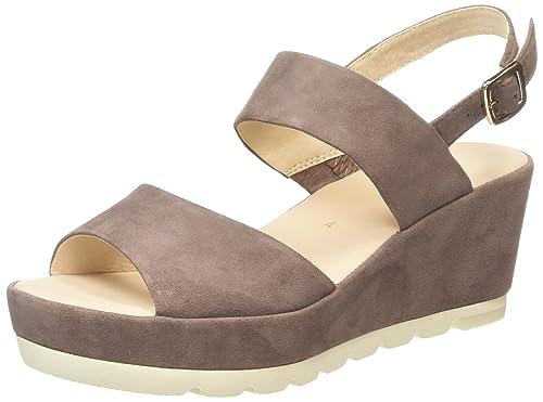 Gabor Study, Women's Wedge Sandals, Brown (Dark Nude Suede), 3 UK