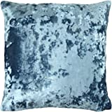 "ShawsDirect Crushed Velvet Cushion Cover - 17"" x 17"" - Teal"