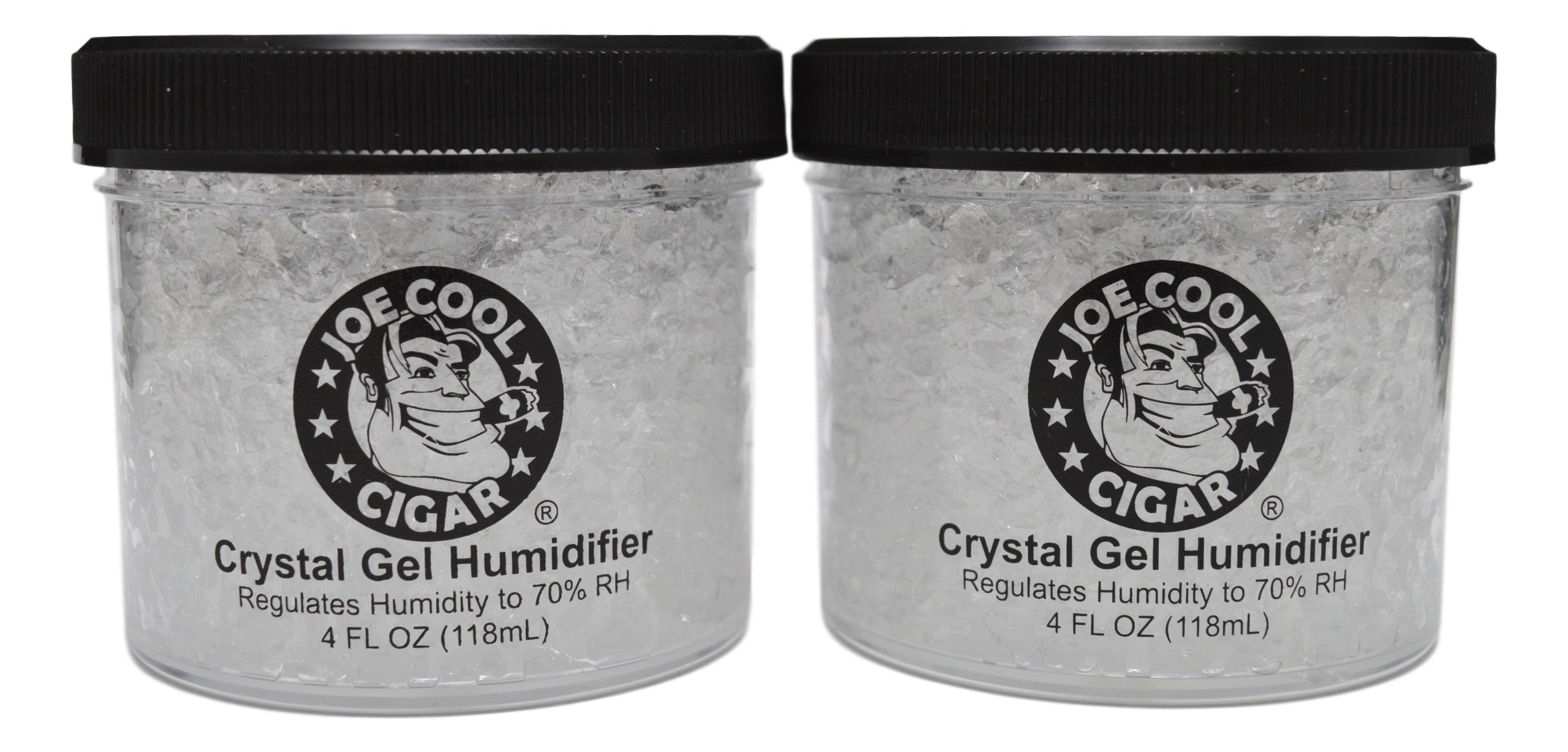 Joe Cool Cigar Crystal Gel Humidifier for Cigar Humidors (4 oz Jars) - 2 Pack by Joe Cool Cigar