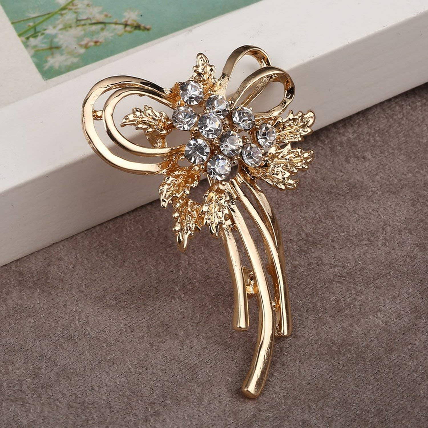 myeuphoria Brooch Pins-Simulated Pearl Golden Letter K Zinc Alloy Brooch Pins
