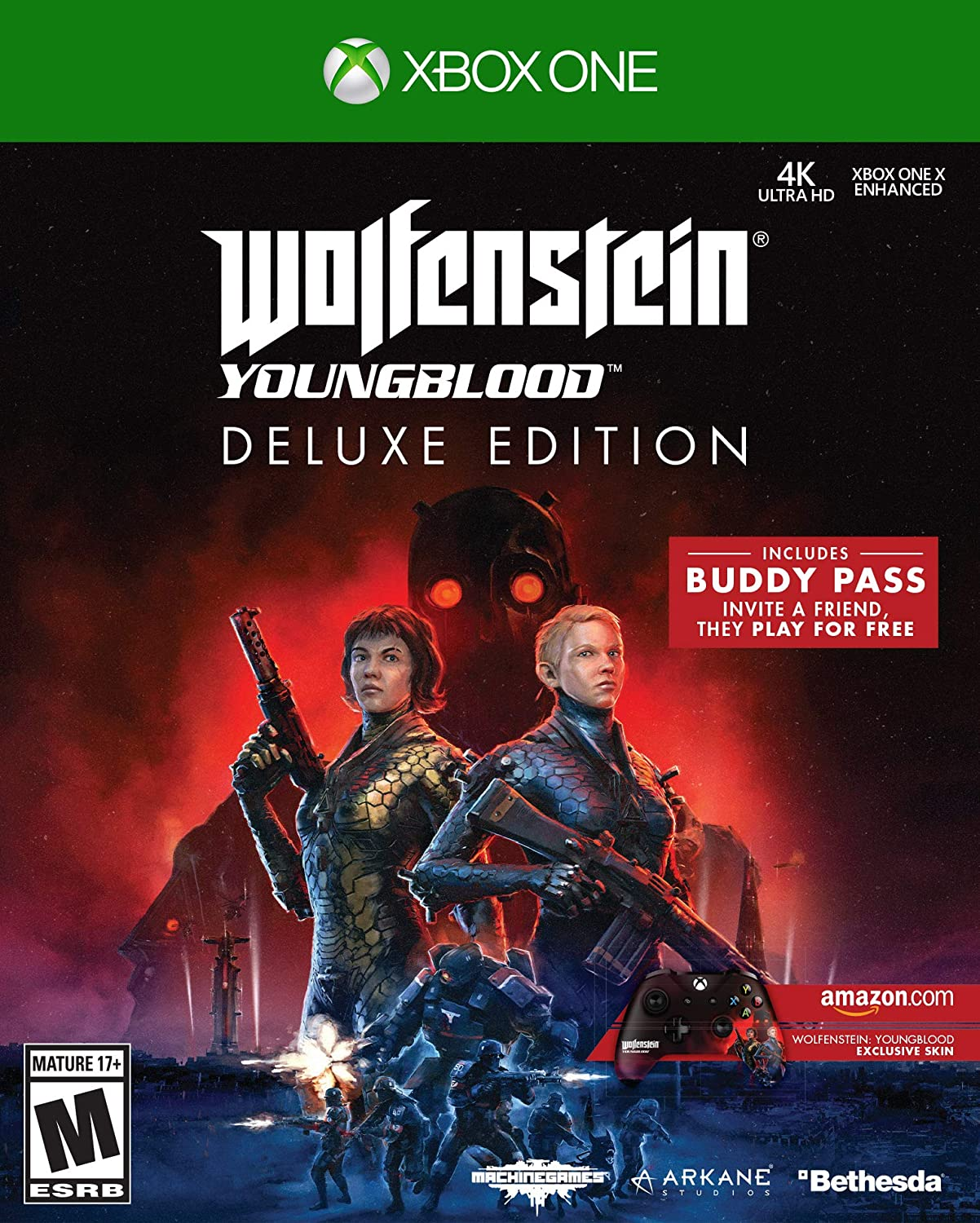 Amazon com: Wolfenstein: Youngblood - Xbox One Deluxe