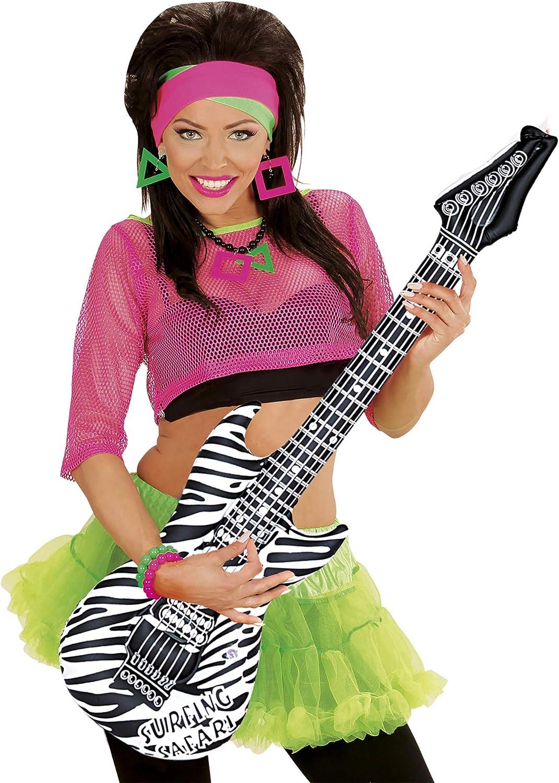 Widmann Pneumatique Zerbra Imprimer Guitar Adult Fancy Dress Accessory