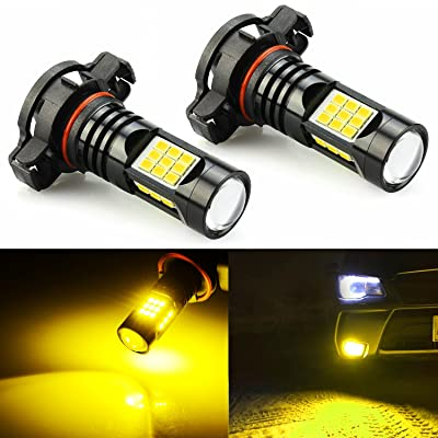 JDM ASTAR Extremely Bright PX Chips PSX24W 2504 LED Fog Light Bulbs, Golden Yellow: Automotive