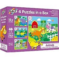 Galt 1005239 Galt Animals 4 Puzzles in A Box Animals Puzzles