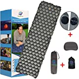 Wild Earth Ultra Lightweight Inflatable Sleeping pad Camping Roll Mat Sleep Pad
