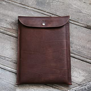 "product image for Fine Leather Sleeve Case for Apple Macbook Pro Retina 15"" in Brown"