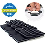 "NON SLIP FURNITURE PADS 16 PREMIUM piece 2""! Rubber Feet with Solid Felts and Tenacious Adhesive Square and Round – Best Furniture Floor Protectors and Furniture Feet for Fix in Place Furniture"