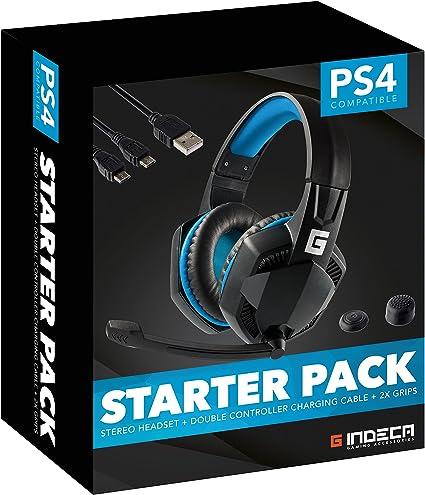 Indeca Gaming- Starter pack - kit de accesorios para playstation 4 ...