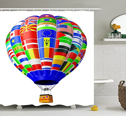 Image Unavailable. Image Not Available For. Color: Creative Hot Air Balloon  Bath ...