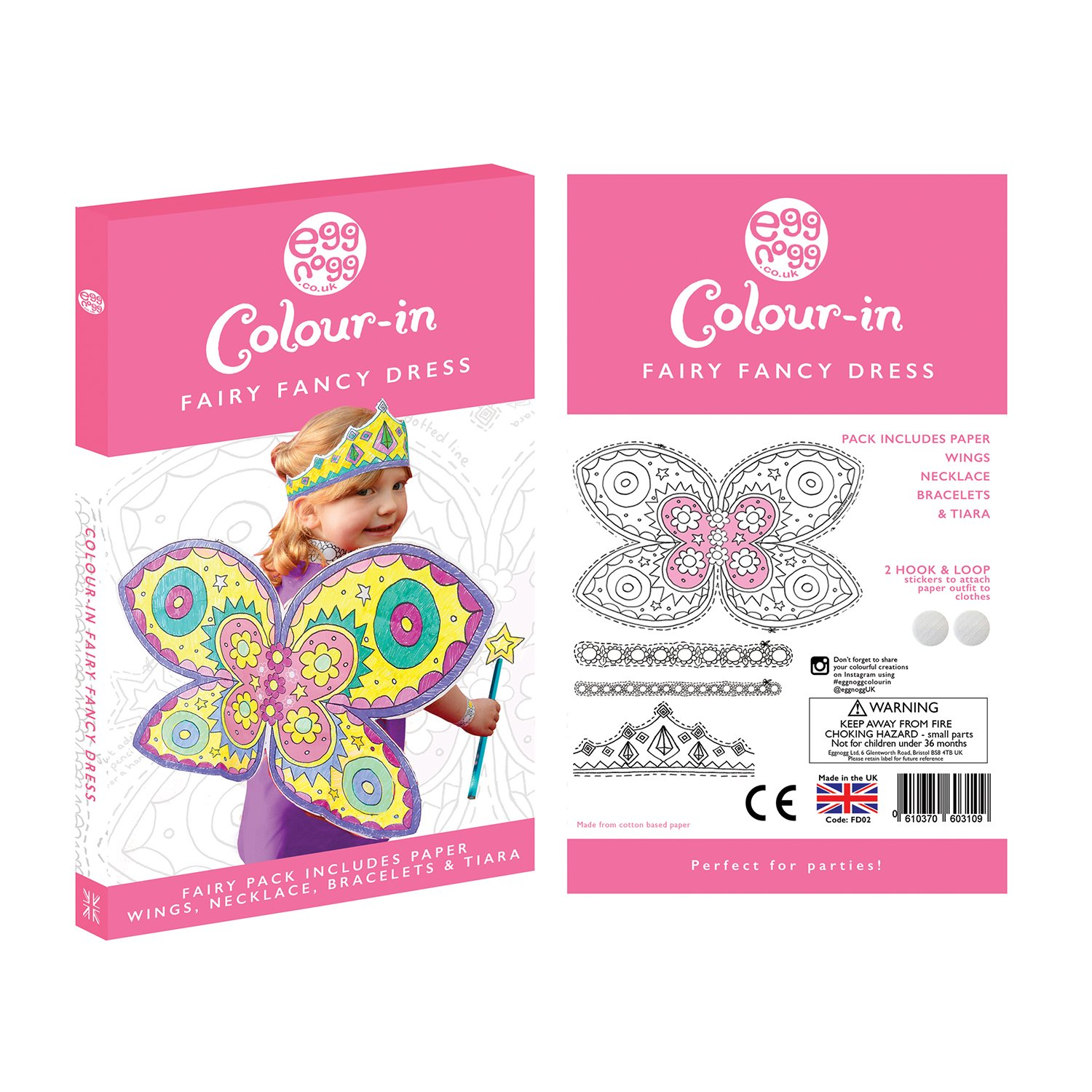EggNogg Colour In Fairy Fancy Dress White Amazoncouk Toys Games