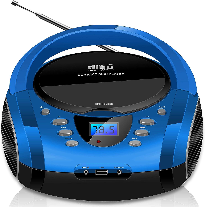 Tragbare Boombox Cd Cd R Usb Fm Radio Aux In Elektronik