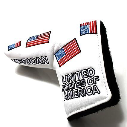 Amazon.com: Bandera de EE. UU. Cubierta para Putter de golf ...
