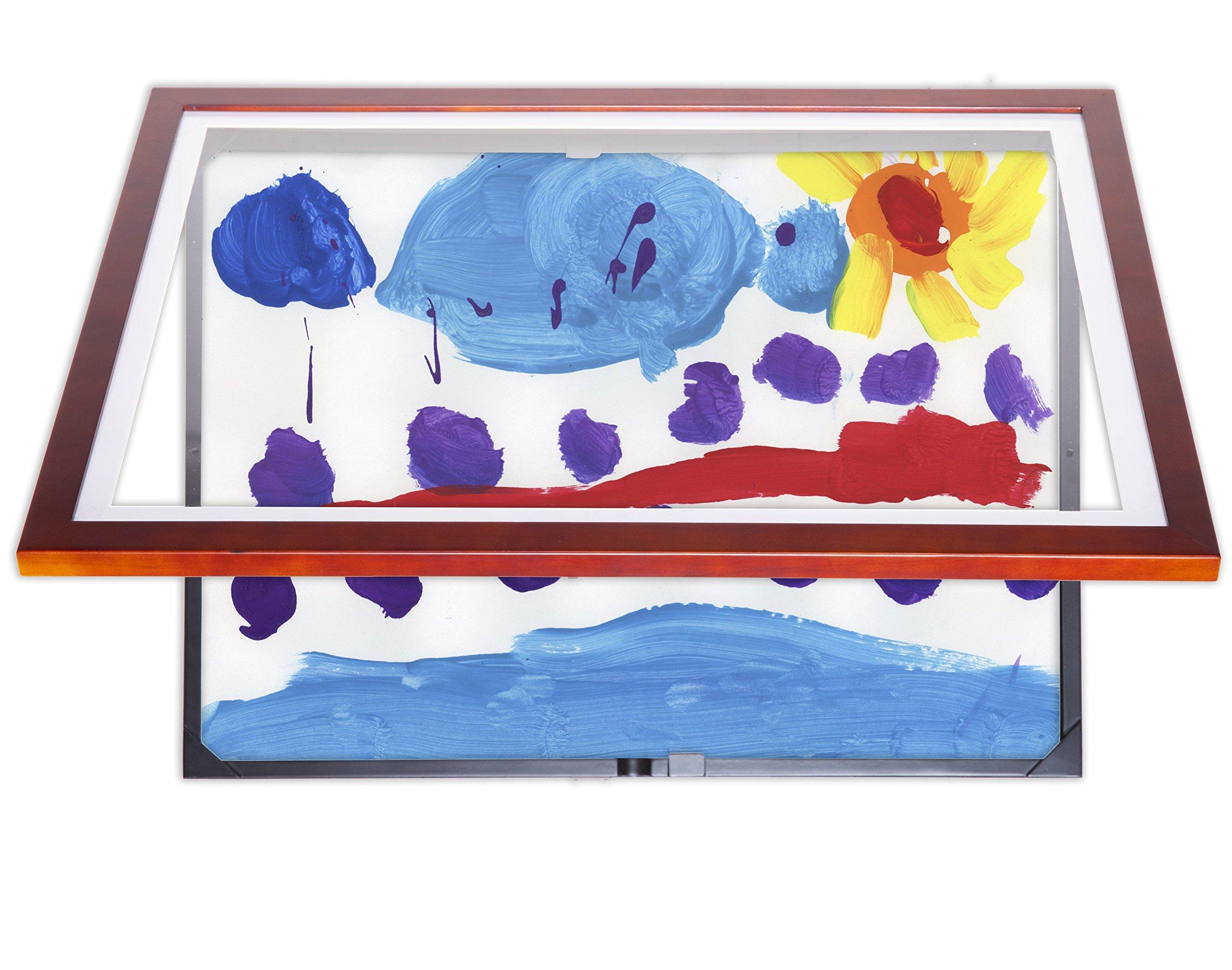 Lil Davinci 18x24 Kids Art Frame (18x24, Cherry)