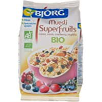 Bjorg Super Fruits Muesli aux Raisins Cassis Cranberry Myrtille Bio 375 g
