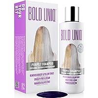 Purple Shampoo for Blonde Hair: Blonde Shampoo Eliminates Brassy Yellow Tones- Lightens Blonde, Platinum, Ash, Silver…