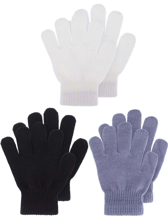 Kids Gloves Full Fingers Knitted Gloves Warm Mitten Winter Favor for Little Boys and Girls eBoot