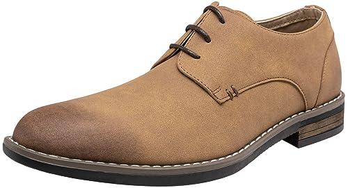 Amazon.com: VOSTEY Zapatos de vestir con cordones formales y ...