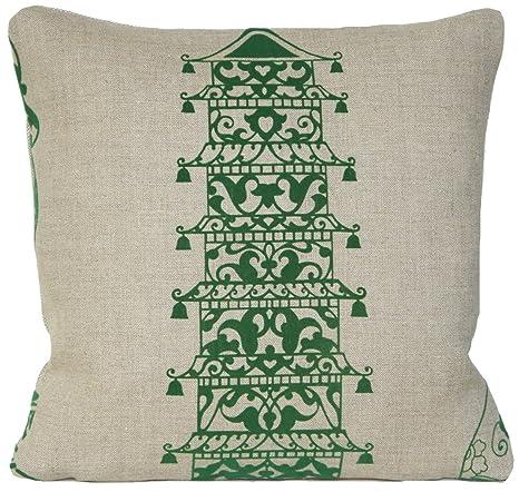 Verde de funda para cojín de Pagoda almohada manta Lorca ...