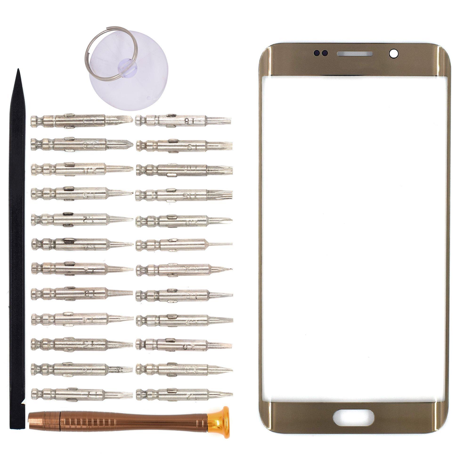 Vidrio Frente para Samsung Galaxy S6 Edge oro  [GOODYITOU]
