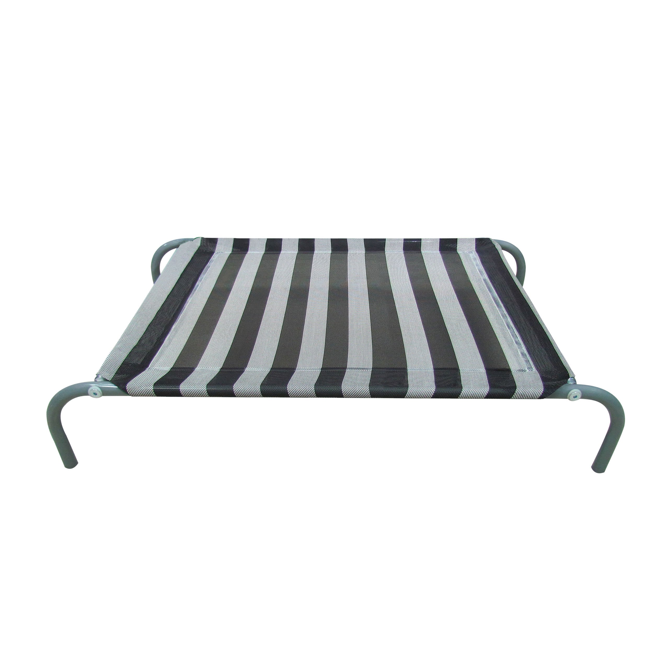 Allmax Elevated Pet Bed with Mesh Fabric and Steel Frame, Small, Black and White