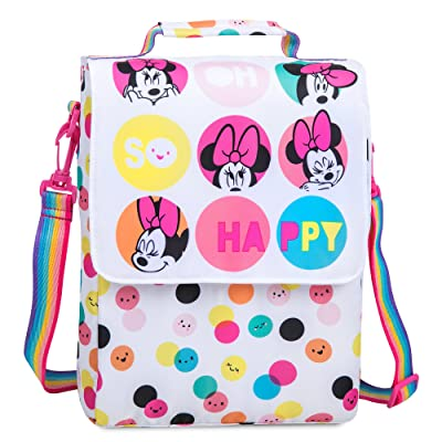 Disney Minnie Mouse Polka Dot Lunch Tote White: Clothing