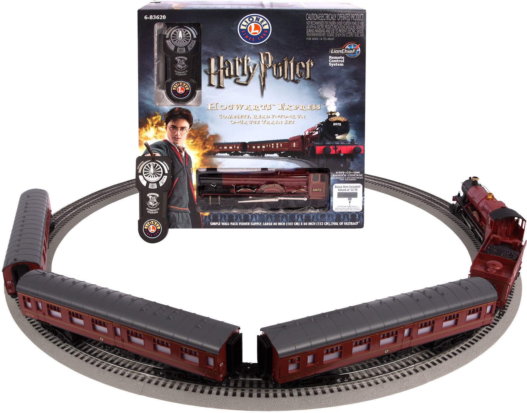 Lionel Hogwarts Express Electric O Gauge Model Train Set w/ Remote and Bluetooth Capability by Lionel