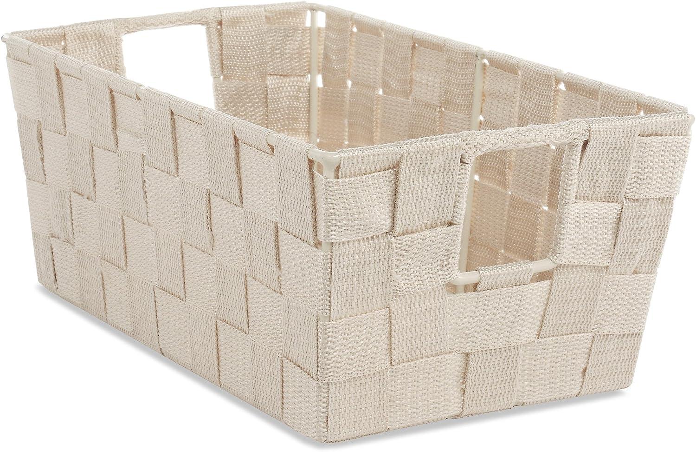 Whitmor Woven Strap Small Latte Shelf Tote