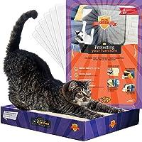 Set X-Large Furniture Protectors from Cats - Cat Repellent for Furniture - Cat Scratch Deterrent - Cat Couch Protector - Scratch pad - Cat Couch - Cat Scratcher (6 Shields + Scratcher + Catnip)