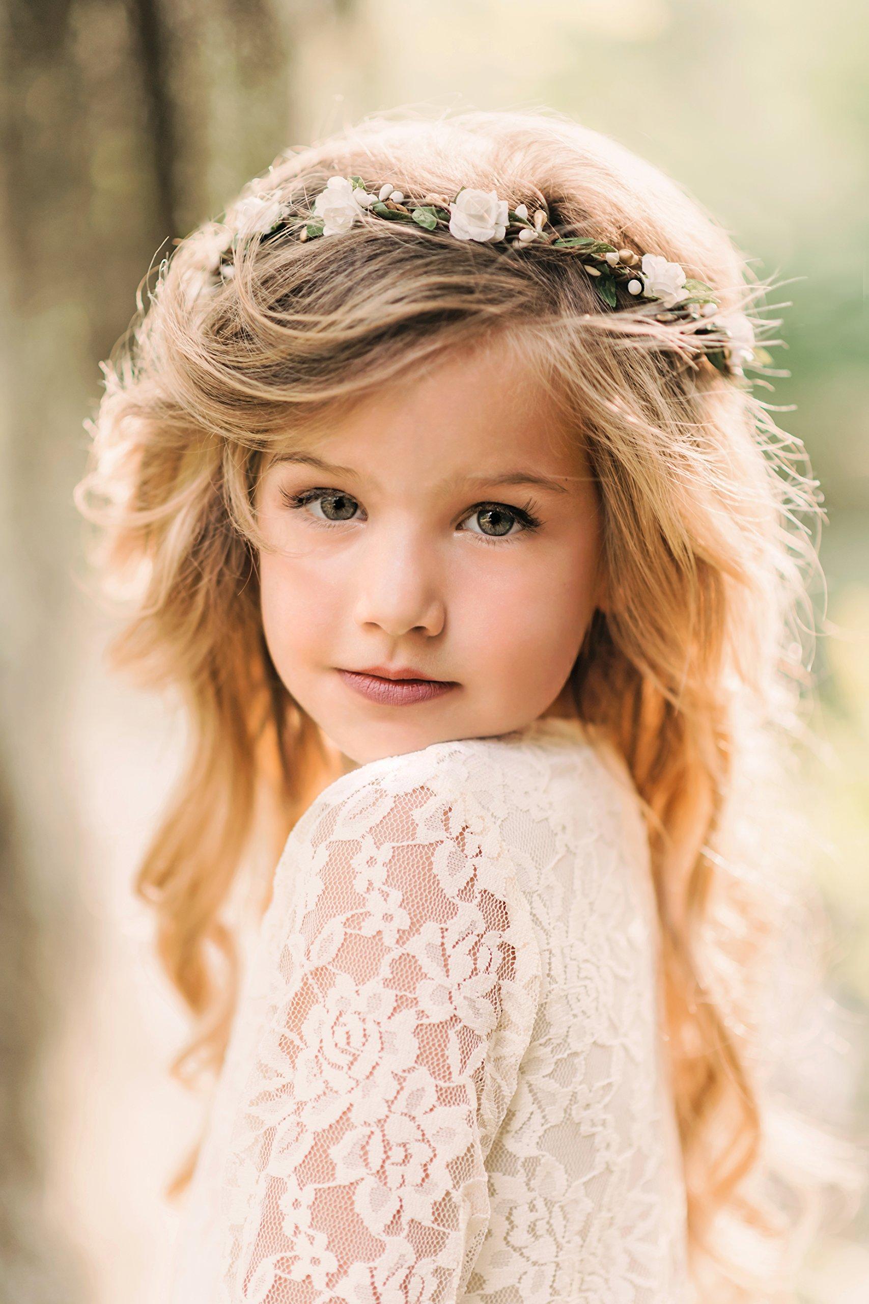 Flower Crown - Flower Wreath - Bridal Halo - Flower Girl