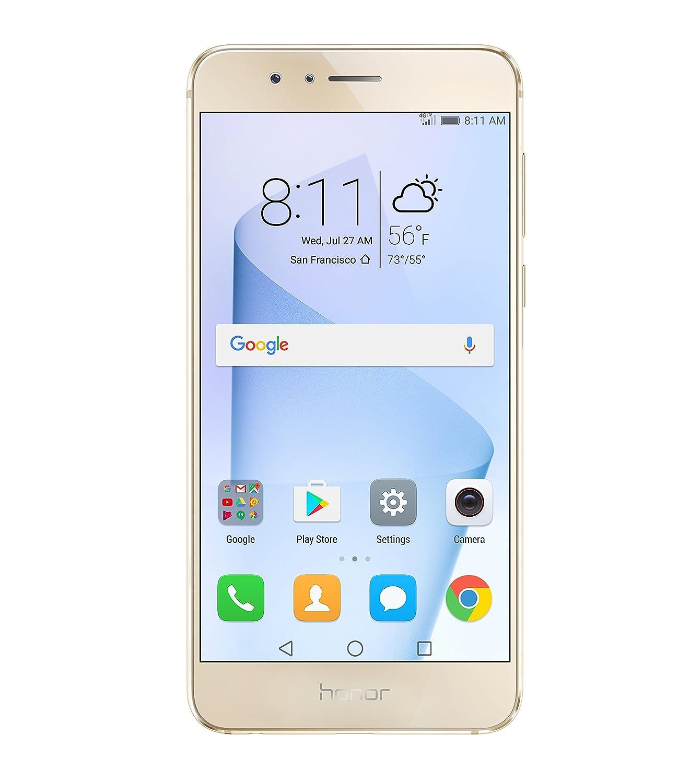 Huawei Honor 8 Unlocked Smartphone 64 GB Dual Camera - US Warranty (Sunrise Gold)