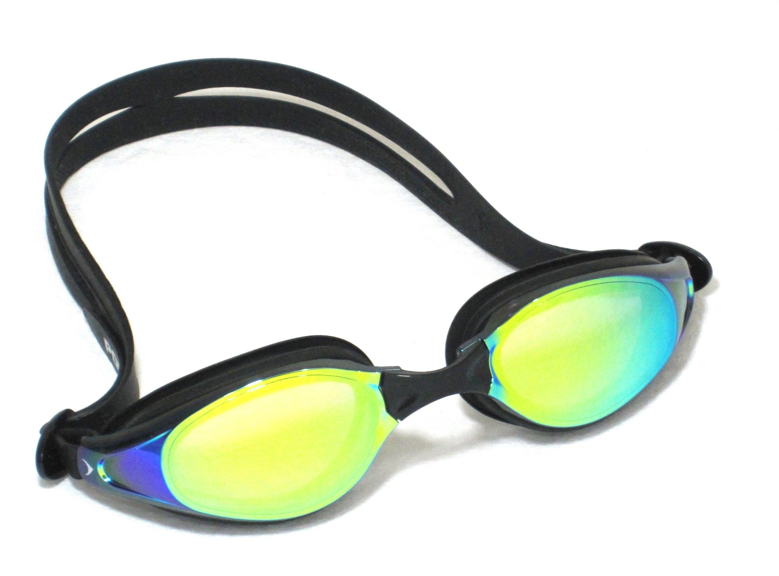 Portivo Hawkeyes Distance Swim Goggles with Reflex Mirror and Anti-Fog Coating