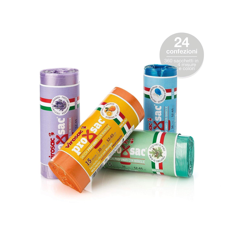 Virosac - Bolsas de residuos perfumadas - 15 cubitos de ...
