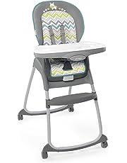 Ingenuity Trio 3-in-1 High Chair-Ridgedale, Grey/Teal